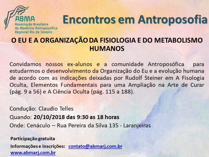 Encontros Em Antroposofia Outubro